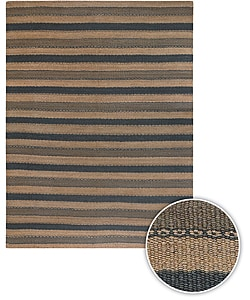 Handmade Transitional Striped Mandara Rug (9' x 13')