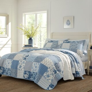 Laura Ashley Paisley Patchwork Cotton Quilt Set
