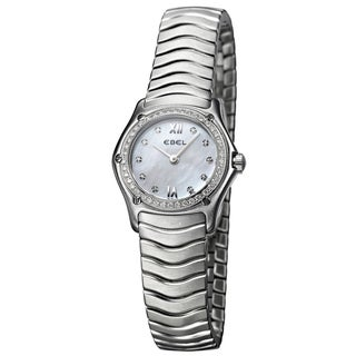 Ebel Classic Wave Women's Stainless-Steel Diamond Watch