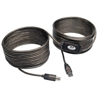 Tripp Lite USB 2.0 Hi-Speed A/B Active Repeater Cable (M/M) 36-ft.