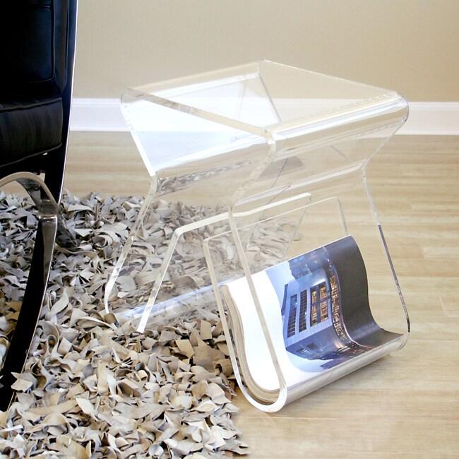 Alec Acrylic Stool/ End Table