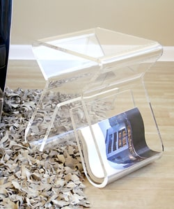 Alec Acrylic Stool/ End Table