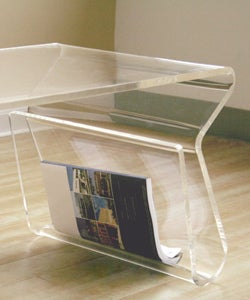 Adair acrylic coffee table 11095929 overstockcom for Overstock acrylic coffee table