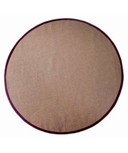 Hand-woven Cherry Brown Sisal Wool Rug (6' Round)