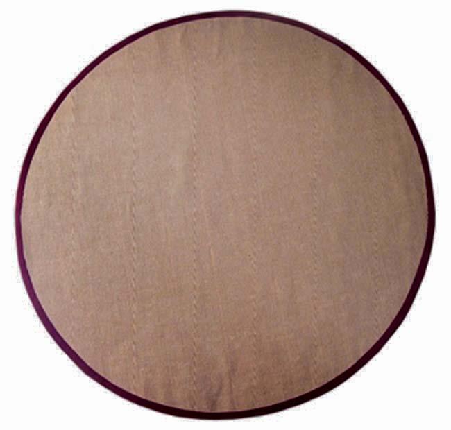 Hand-woven Cherry Brown Sisal Wool Rug (8' Round)