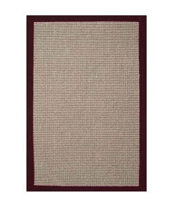 Cherry Brown Hand-woven Sisal Rug (8'9 x 12')