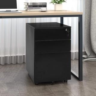 Superday 3- drawer Rolling Metal Locking File Cabinet(C)