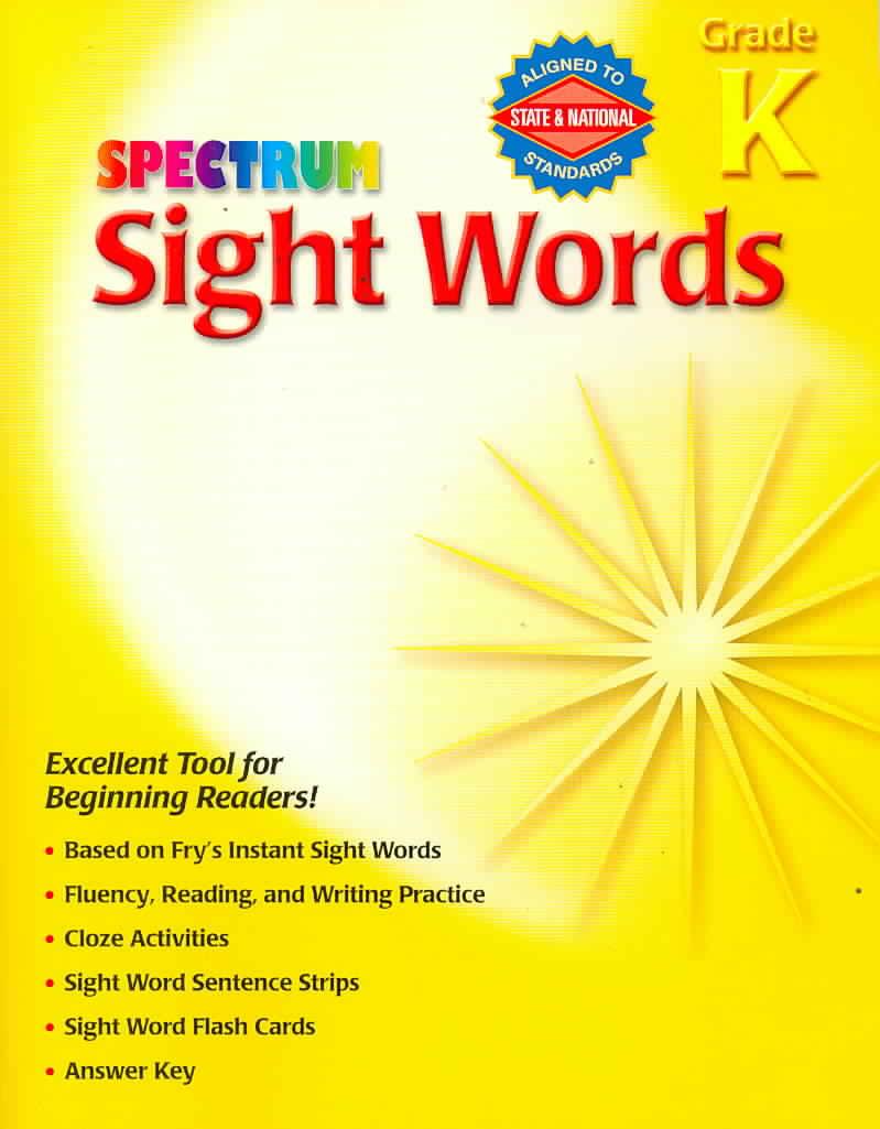 Spectrum Sight Words, Grade K (Paperback)