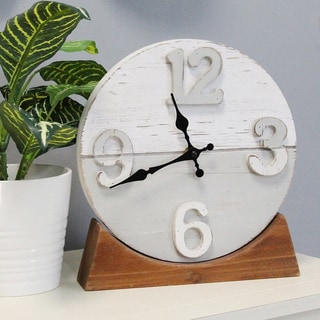 The Gray Barn Laurie Two-tone Wood Table clock