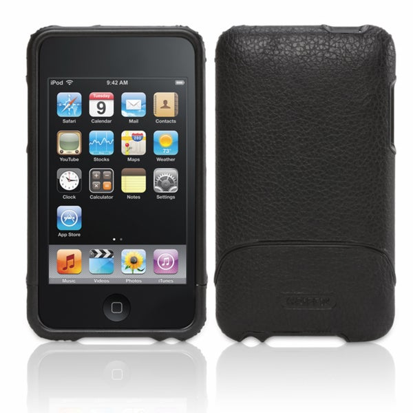 Griffin Elan Black Leather Case for iPod Touch