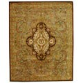 Safavieh Handmade Classic Royal Beige/ Olive Wool Rug (7'6 x 9'6)