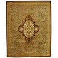 Handmade Classic Royal Beige/ Olive Wool Rug (8'3 x 11')