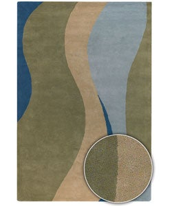 Hand-tufted Contemporary Mandara Wool Rug (5' x 8'