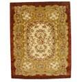 Safavieh Handmade Classic Florence Ivory/ Red Wool Rug (7'6 x 9'6)