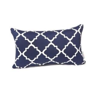 Porch & Den Schmidt Trellis Pattern 12-inch x 20-inch Lumbar Pillow