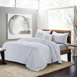 Premium Cotton Matelasse Coverlet & Pillow Shams Set, Floral Pattern
