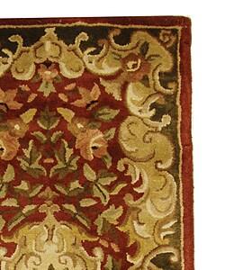 Safavieh Handmade Classic Juliette Rust/ Green Wool Runner (2'3 x 10')