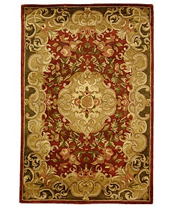 Safavieh Handmade Classic Juliette Rust/ Green Wool Rug (5' x 8')