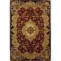 Safavieh Handmade Classic Juliette Rust/ Green Wool Rug (6' x 9')