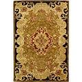 Handmade Classic Juliette Gold Wool Rug (5' x 8')
