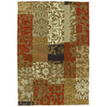Hand-tufted Tran Flower Wool Rug (5' x 8')