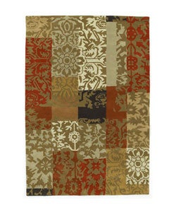 Hand-tufted Tran Flower Wool Rug (8' x 10'6)