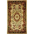 Safavieh Handmade Classic Juliette Ivory/ Green Wool Rug (2' x 3')