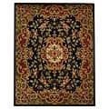 Safavieh Handmade Classic Juliette Black/ Green Wool Rug (7'6 x 9'6)