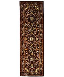 Safavieh Handmade Classic Kerman Burgundy/ Navy Wool Runner (2'3 x 8')