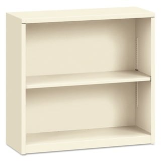 HON 29-inch 2-shelf Putty Metal Bookcase