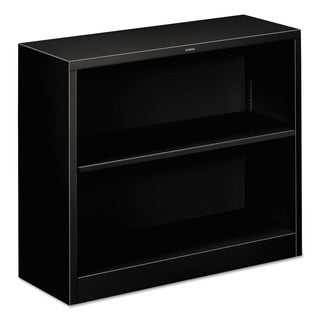 HON 29-inch 2-shelf Black Metal Bookcase
