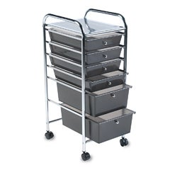 Advantus Portable Six-drawer Metal Organizer with Chrome-finish