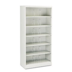 HON 600 Series 6-Shelf Steel Open Shelf Legal File Cabinet - Gray