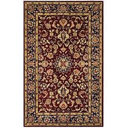 Safavieh Handmade Classic Kerman Burgundy/ Navy Wool Rug (5' x 8')
