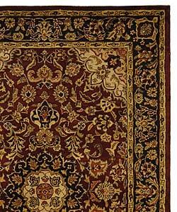 Safavieh Handmade Classic Kerman Burgundy/ Navy Wool Rug (6' x 9')