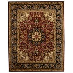 Safavieh Handmade Classic Kerman Burgundy/ Navy Wool Rug (8'3 x 11')