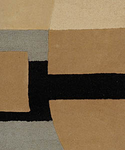 Safavieh Handmade Rodeo Drive Soho Ivory/ Gray N.Z. Wool Rug (5' x 8')
