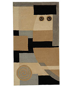 Safavieh Handmade Rodeo Drive Soho Ivory/ Gray N.Z. Wool Rug (6' x 9')