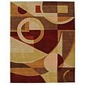 Safavieh Handmade Rodeo Drive Deco Beige/ Multi N.Z. Wool Rug (7'6 x 9'6)