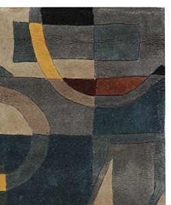 Safavieh Handmade Rodeo Drive Deco Blue/ Multi N.Z. Wool Rug (2' x 3')
