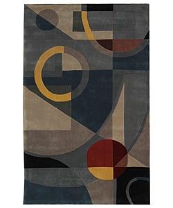 Safavieh Handmade Rodeo Drive Deco Blue/ Multi N.Z. Wool Rug (3'6 x 5'6)
