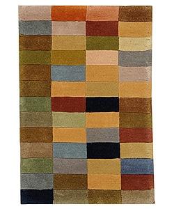 Handmade Rodeo Drive Patchwork Multicolor N.Z. Wool Rug (2' x 3')