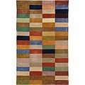 Handmade Rodeo Drive Patchwork Multicolor N.Z. Wool Rug (2' 6 x 4' 6)