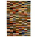 Handmade Rodeo Drive Patchwork Multicolor N.Z. Wool Rug (3'6 x 5'6)