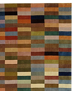 Handmade Rodeo Drive Patchwork Multicolor N.Z. Wool Rug (7'6 x 9'6)