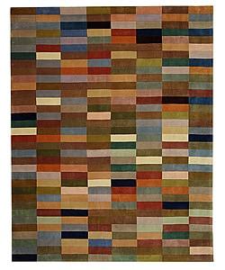 Safavieh Handmade Rodeo Drive Patchwork Multicolor N.Z. Wool Rug (7'6 x 9'6)