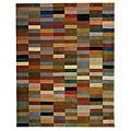 Handmade Rodeo Drive Patchwork Multicolor N.Z. Wool Rug (8' x 11')