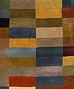 Handmade Rodeo Drive Patchwork Multicolor N.Z. Wool Runner (2' 6 x 8')