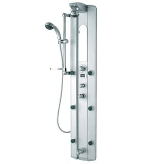 VIGO Shower Massage Panel with Digital Thermometer and Spout