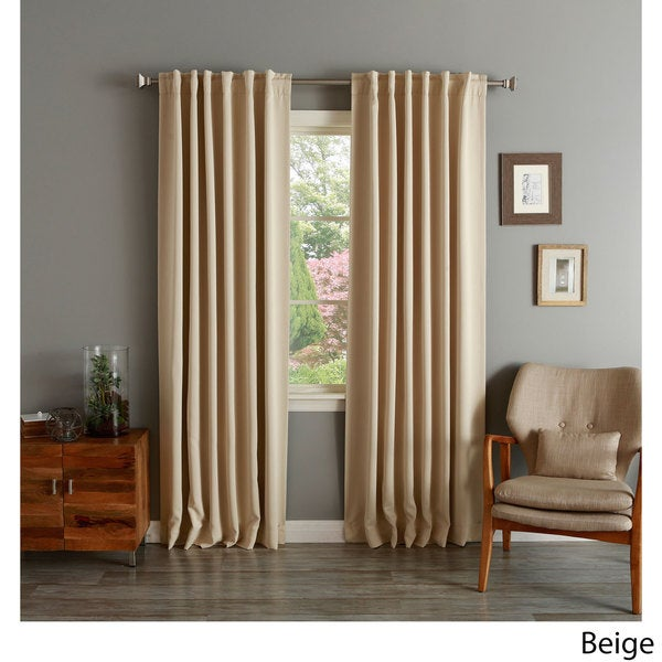 Aurora Home Insulated Thermal Blackout 84-inch Curtain Panel Pair (As Is Item)